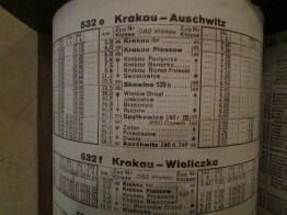Train schedule to Auschwitz