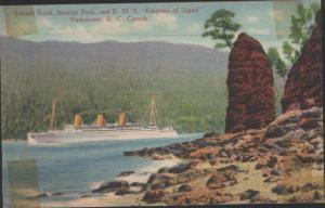 siwash rock postcard 1908