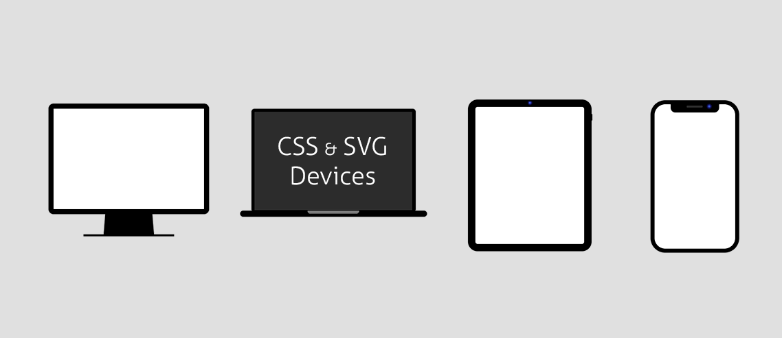 Ridiculously lightweight, responsive CSS & SVG device shapes