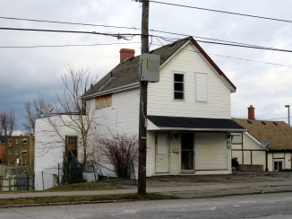One of several abandoned properties near the old General Hospital