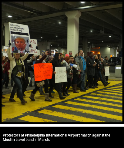 PHL Airport Protests 2017