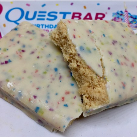 Review Quest Birthday Cake Coated Protein Bar Sean S Skillet