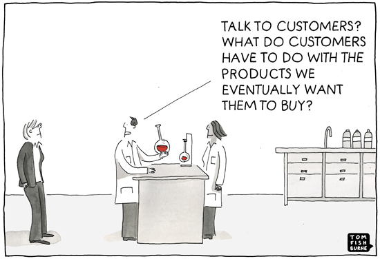 talk to customers cartoon