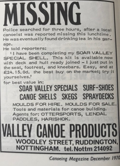 Early paddling adverts