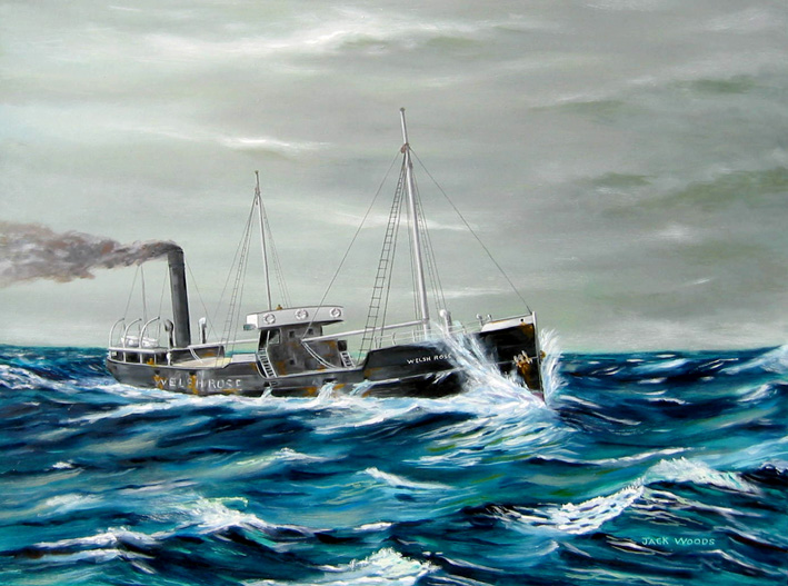 Welsh Rose seapainting jack wods marine art