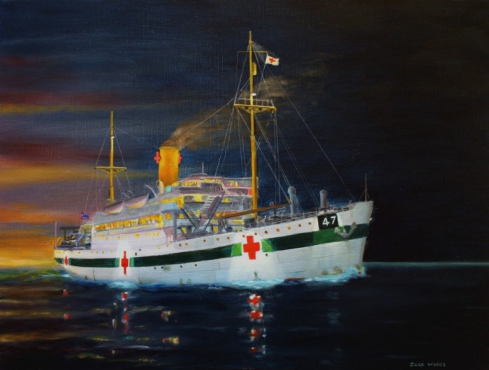 Centaur hospital ship AHS marine art jaclk woods
