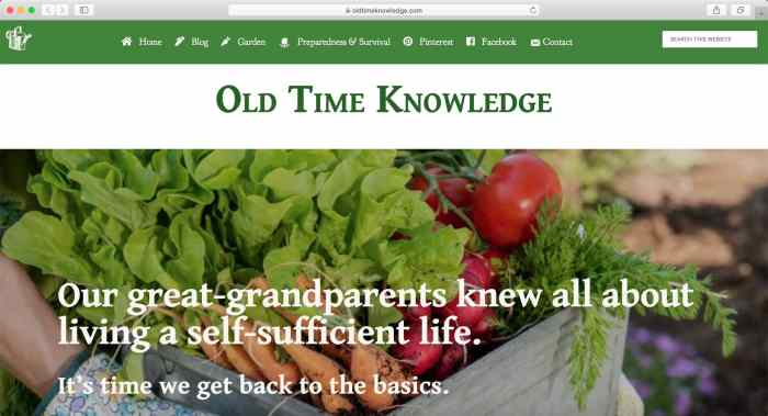 Old Time Knowledge