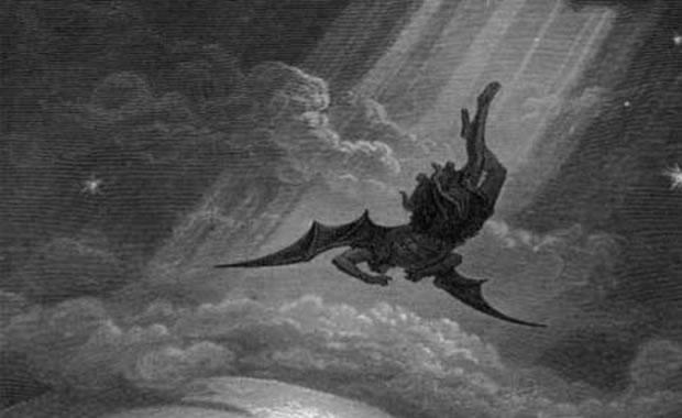 Seita satânica pede tratamento igualitário para expor tela com Satanás caindo do céu