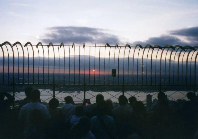 ニューヨークの夕陽