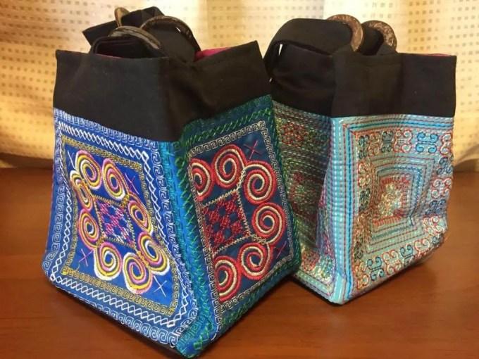 ベトナムお土産 花モン族の刺繍バッグ【雑貨】