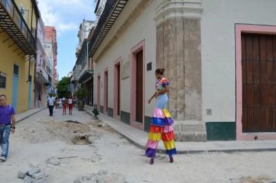 ストリートパフォーマー、ハバナ旧市街 【キューバ Cuba】