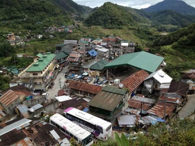 フィリピン、バナウェ。バナウェの街並み