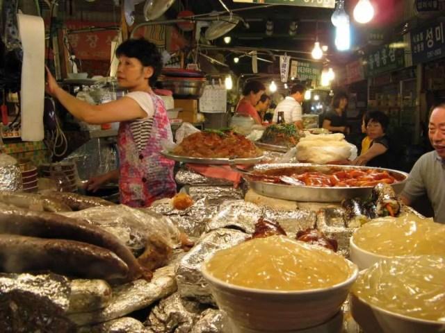 韓国、ソウルの市場