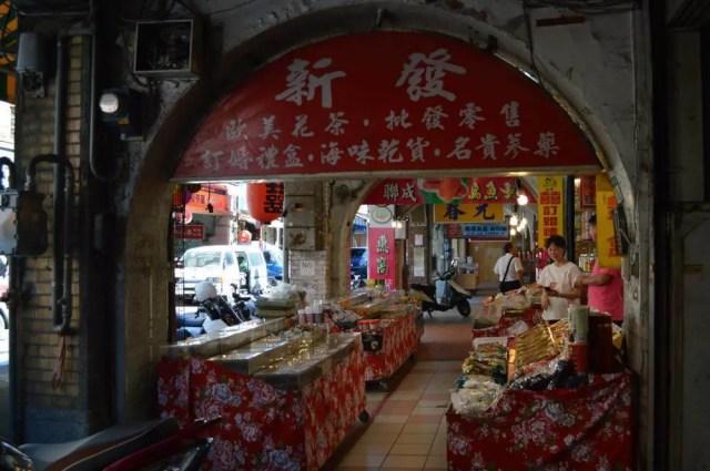 台北、迪化街の店【台湾】