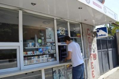 タバコ&両替屋(トビリシから車でメスティアへ)【ジョージア(グルジア)Georgia:საქართველო】