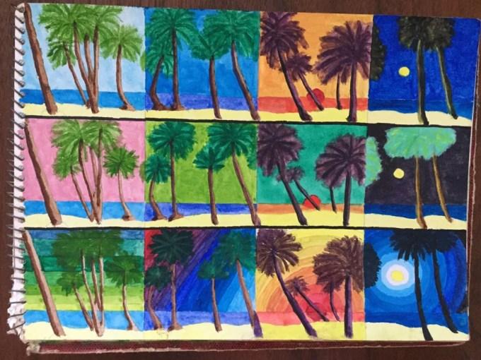 インド・ゴア「ゴアのビーチ」【絵】