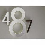 10 Backlit LED House Numbers Modern by Luxello