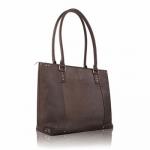 Solo Executive Leather Tote - Dark Brown Dark Brown
