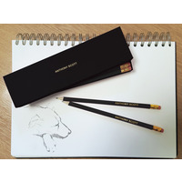 12 Black Pencils in a Black Box