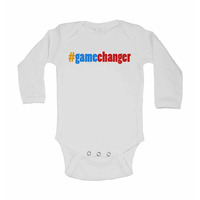 #Gamechanger - Long Sleeve Baby Vest