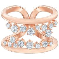 Swarovski North Motif Ring, White, Rose-gold Tone Plated, Size 55, 5487071