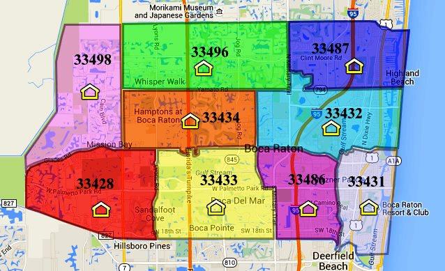 Raton Map Zip Code Boca 33431