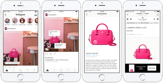 advertising on instagram - instagram shopping