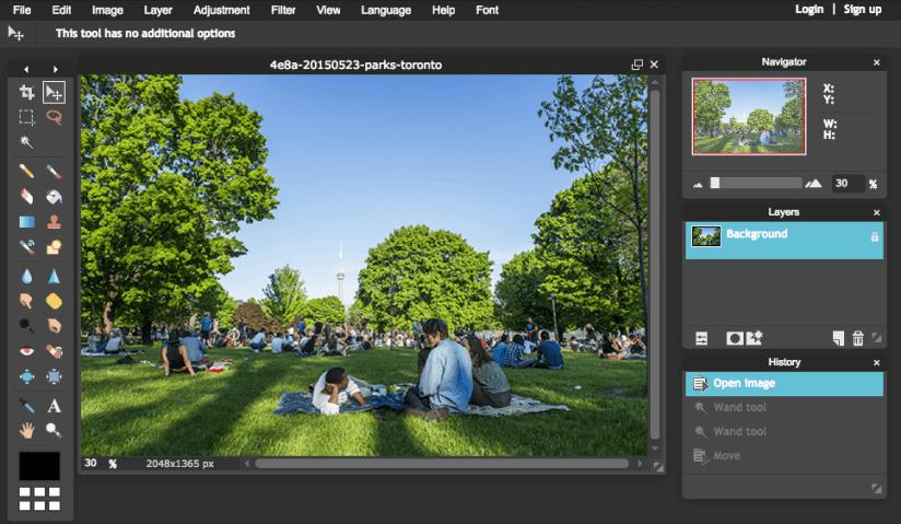 Photoshop Alternative for Photo-Editing: Pixlr Editor