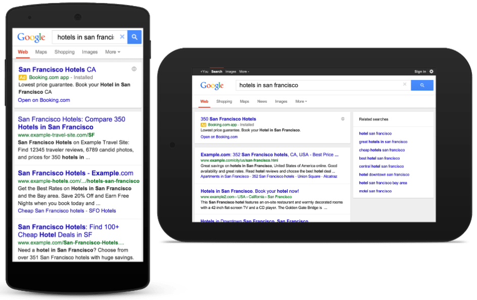 search marketing tablet