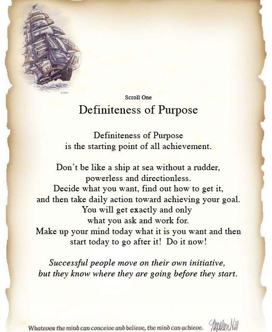 A Well Defined Purpose Ensures Success