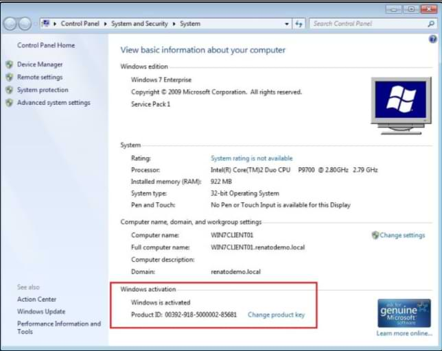 Windows 7 Activator KMS Main Key Features
