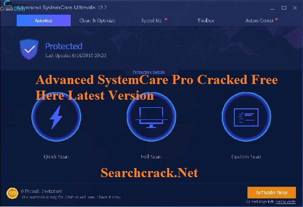 Free Download Advanced SystemCare Pro Cracked 2021