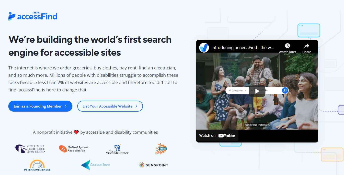 accessiBe announces New Search Engine