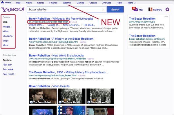 Yahoo Testing New Search Results Page