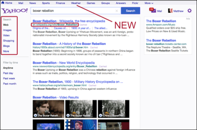 Yahoo Testing New Search Results Page - Search Engine Land