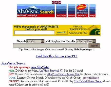 AltaVista, May 1997