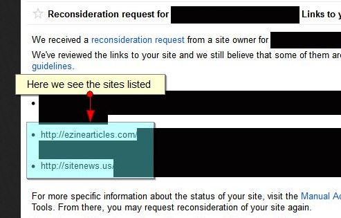 Ezine Articles and Press Releases Bad Link Example