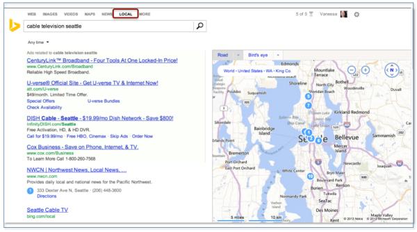 Bing Entity Search