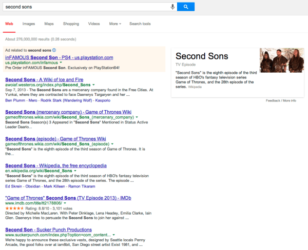 second sons - Google Search