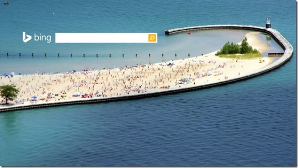Bing homepage ChicagoBeach