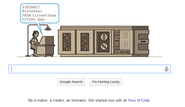 Grace Hopper Google Logo