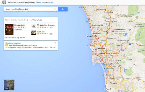 Google Maps Sushi