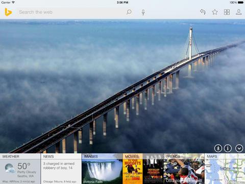 Bing iPad iOS 7