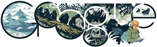 Dian Fossey Google Logo