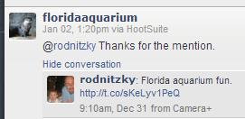 tweet response aquarium