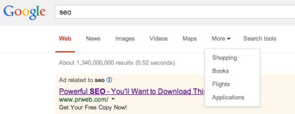 google top menu1
