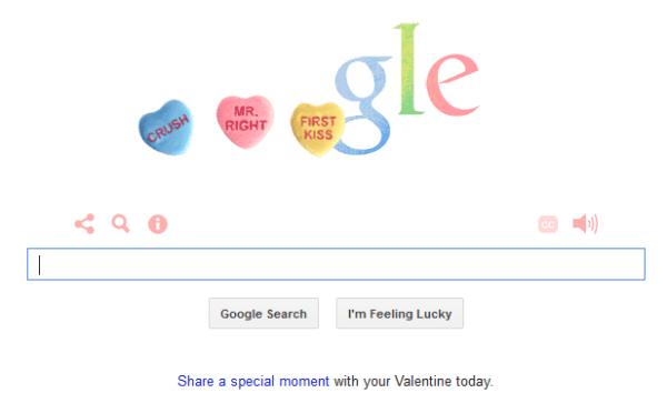 Google Valentines logo 2014