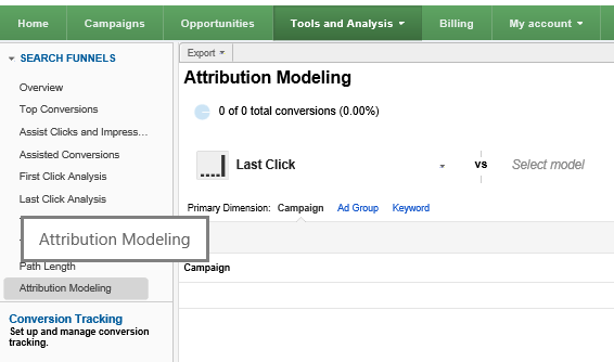 adwords attribution modeling tool