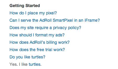 AdRoll FAQ