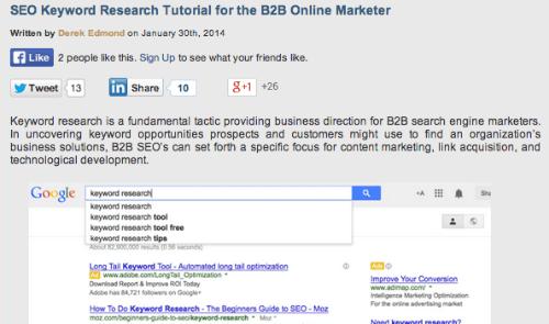 SEO Keyword Research SlideShare
